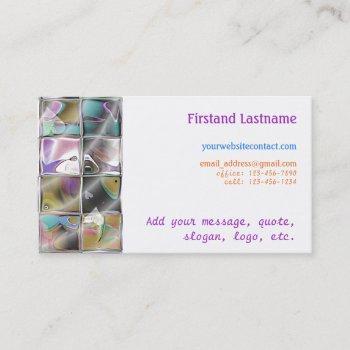 deco glass mosaic customizable business cards