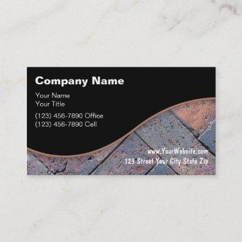 decorative home brick paving business card