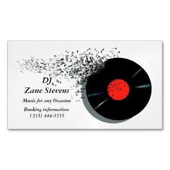 deejay dj disc jockey vinyl record business card magnet