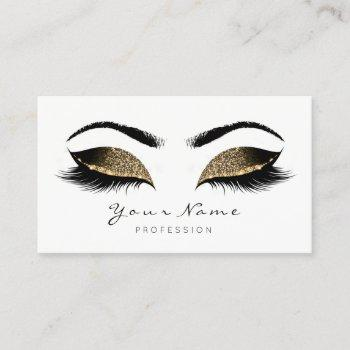 deep sepia glitter makeup artist lash black white appointment card