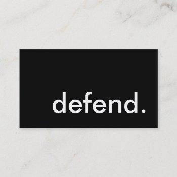 defend. business card
