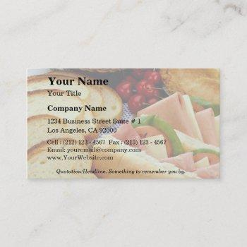 delicious bread, sandwiches, pie and cookies business card