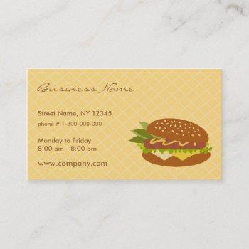delicious sandwich business card