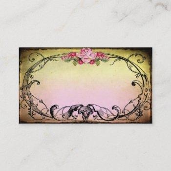 delicious sweet vintage style business card