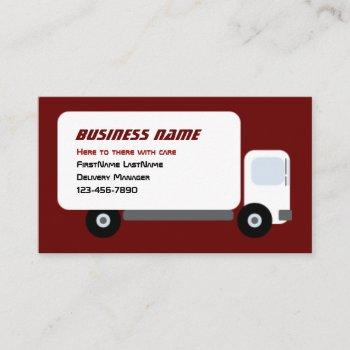 delivery truck business card