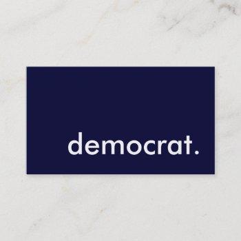 democrat. business card