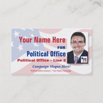 democrat political election campaign business card