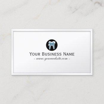 dental care simple teeth icon dentist business card
