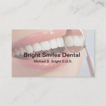 dental office nice smile business card