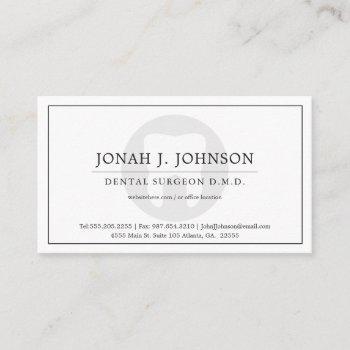 dentist | minimal tooth symbol business card