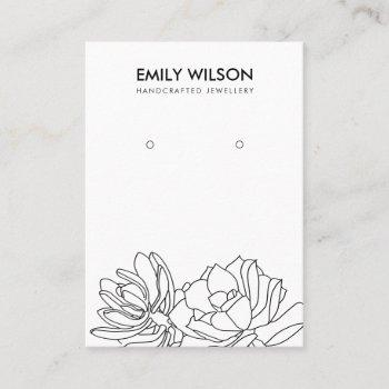 desert cactus succulent foliage earring display business card