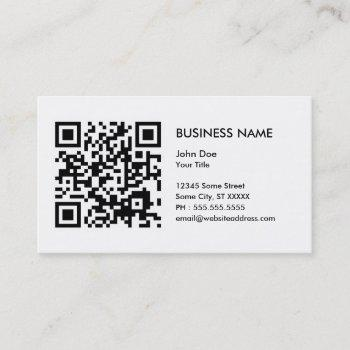 design your own qr code business card