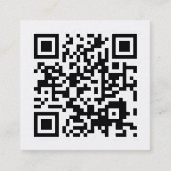 design your own qr code square business card