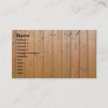 designer wooden fence business cards