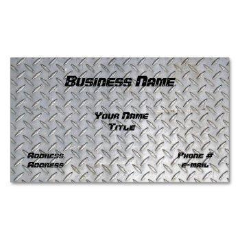 diamond plate design magnetic business card