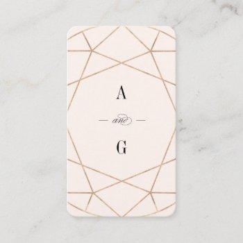 diamond rose gold gemstone geometric stylish chic business card