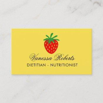 dietitian nutritionist business card template