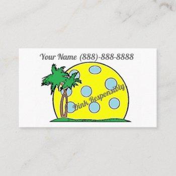 dink responsibly business cards