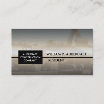 dirt   soil construction company hauling business business card