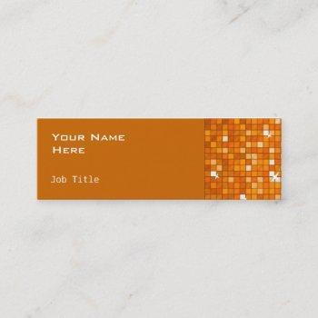 disco tiles orange side skinny orange mini business card