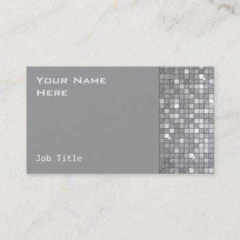 """disco tiles """"silver"""" business card side"""