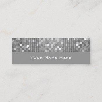 "disco tiles ""silver"" business card skinny"