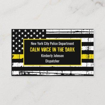 dispatcher fire police thin yellow line business card