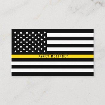 dispatcher thin yellow line flag professional business card