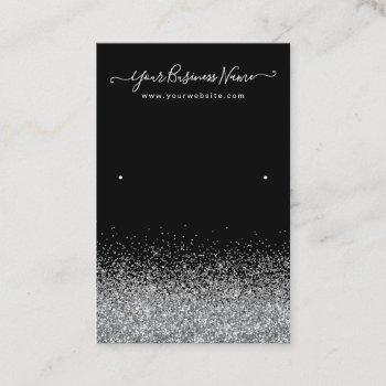 display earring black color business card