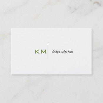 divider line (apple green) tab business card