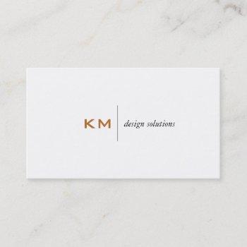 divider line (burnt sienna) tab business card