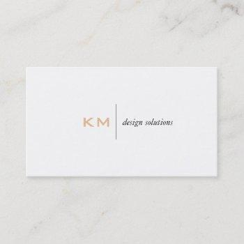 divider line (light apricot) tab business card