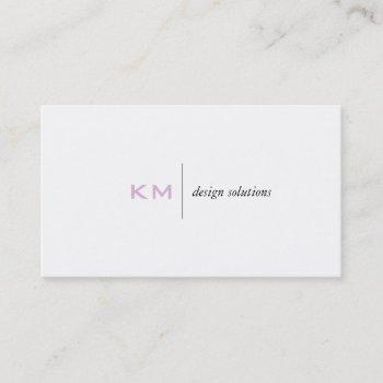 divider line (pink) tab business card