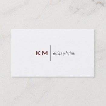 divider line (rose vale) tab business card