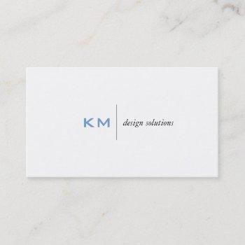 divider line (sky blue) tab business card