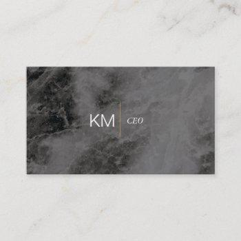 divider line with black tab / black marble business card