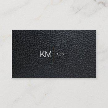 divider line with black tab / leather business card