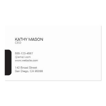 Small Divider Line With Black Tab / Leather Business Card Back View