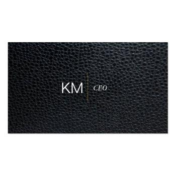 Small Divider Line With Black Tab / Leather Business Card Front View