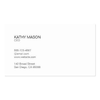 Small Divider Line With Black Tab / Marbled Gray Business Card Back View
