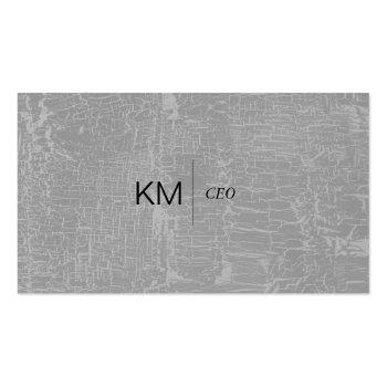 Small Divider Line With Black Tab / Marbled Gray Business Card Front View