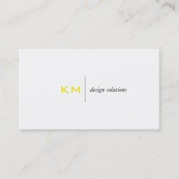 divider line (yellow) tab business card