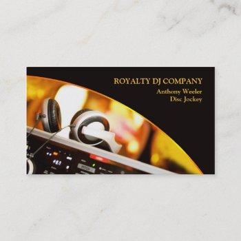 dj company business card