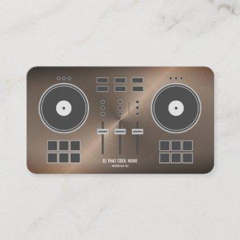 dj controller 2020 - bronze metal faux business card