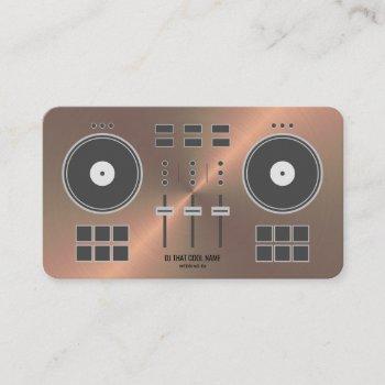 dj controller 2020 - copper faux business card