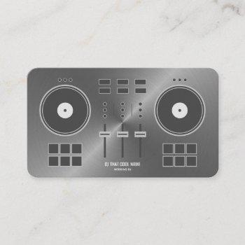 dj controller 2020 - metal faux business card