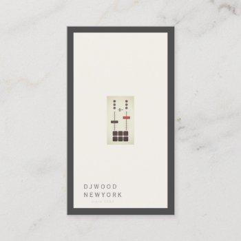 dj minimalist luxury business card