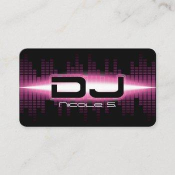 dj modern pink business card