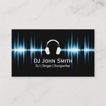 dj music beat professional business card
