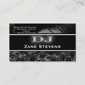 dj soundboard microphone business card template